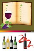 葡萄酒矢量素材