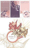 粉色花朵卡片