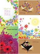 七彩花朵卡片