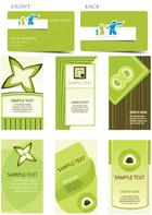 绿色卡片矢量
