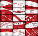 红色线条卡片