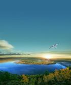 自然湖泊风景