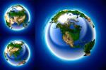 3D多角度地球