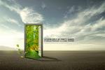 绿色之门创意