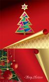 卷角圣诞节贺卡