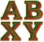 螺旋状数字字母