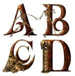 金属质感骷髅字