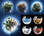 地球村与与鱼缸