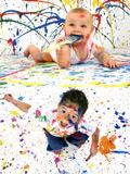 欢乐地油漆儿童1