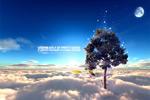 创意云海树木