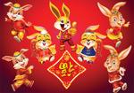 盛装传统福兔