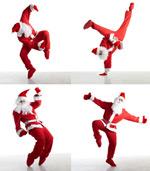 圣诞老人跳街舞