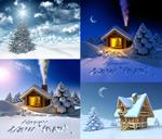 圣诞节雪景