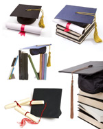 毕业证书与学位帽