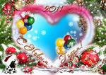 圣诞节爱心相框