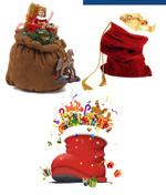 圣诞老人与礼物袋