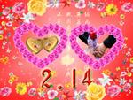 情人节玫瑰爱心