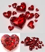 红色心形钻