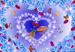 蝶舞纷飞漫爱心