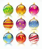 圣诞精美彩球