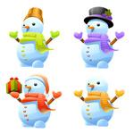 圣诞小雪人矢量