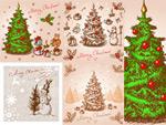 手绘圣诞插画