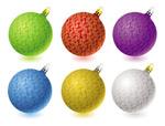 华丽的圣诞彩球