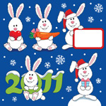 可爱的圣诞兔