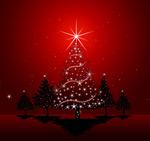 圣诞彩球背景