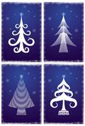 线条圣诞树