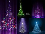 闪光圣诞树矢量