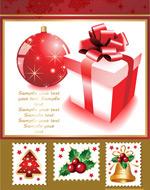 可爱的圣诞邮票