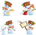 圣诞雪人矢量