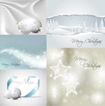 白色圣诞节矢量