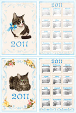 2011年日历模板2