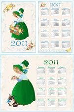 2011年日历模板1