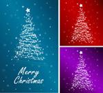 星光圣诞树矢量