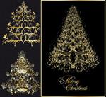 欧式花纹圣诞树