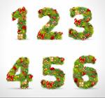 圣诞饰品数字