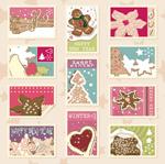 淡雅的圣诞节邮票