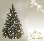 华丽圣诞树与彩球