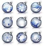 水晶圣诞彩球