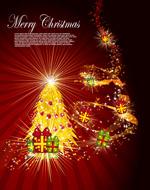 华丽圣诞节背景1