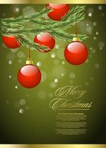 华丽圣诞节背景3