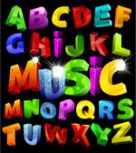 色彩立体字母