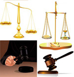 司法主题矢量