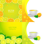 鲜美橙汁元素