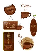 咖啡主题贴纸