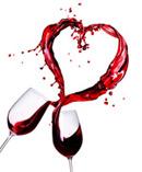 葡萄酒飞溅心形