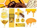 蜜蜂蜂蜜蜂窝